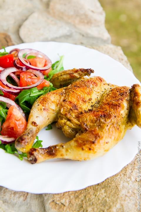 Цыпленок на гриле - фото