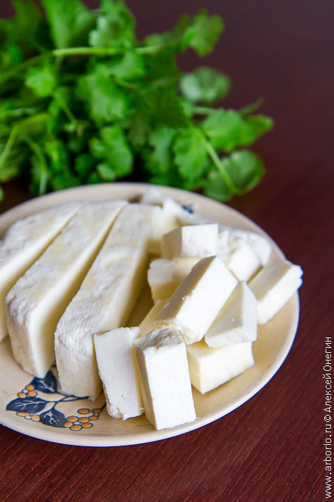 Свежий сыр панир - фото