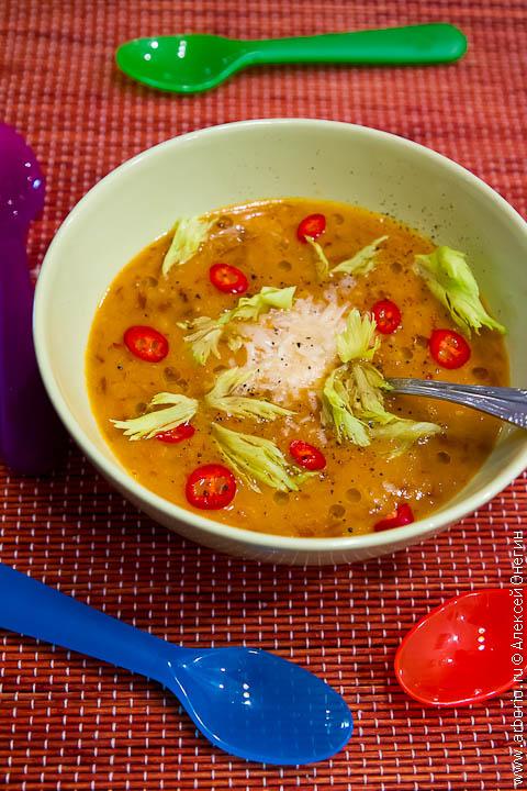Испанский гороховый суп - фото