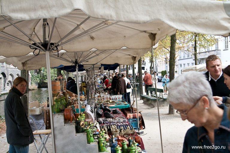Блошиные рынки - Антверпен и Брюгге, Бельгия. фото