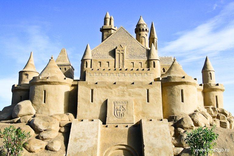 Крепость из песка - Лаппеенранта, Финляндия. фото