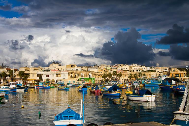 Рыбацкая деревня Марсашлокк - Мальта фото