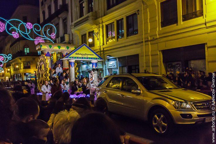 Парад королей-магов в Валенсии фото