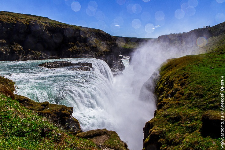 Золотой водопад Гюдльфосс фото