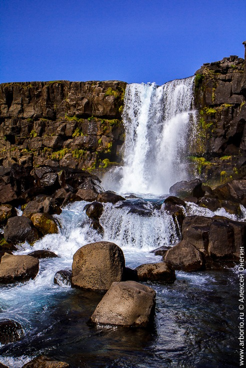 Водопад Ёксарарфосс, Исландия