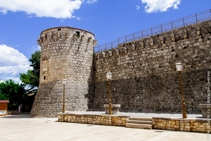 Город Крк, столица острова Крк, Хорватия