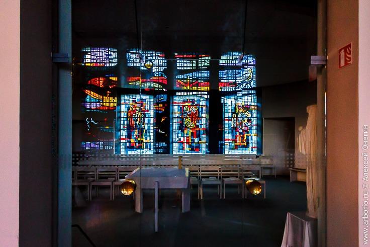 Необычная красивая церковь в Эльзасе
