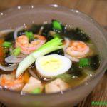 Суп с тофу и креветками