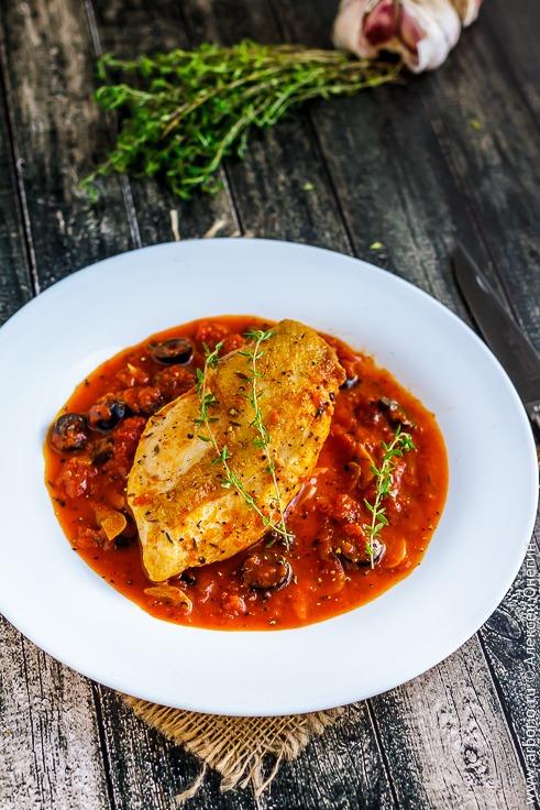 Куриное филе в соусе провансаль - фото