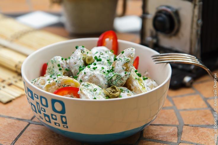 Салат из молодого картофеля - фото