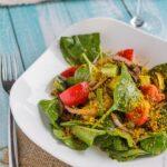 Салат с печёными баклажанами