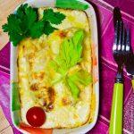 Цикорий, запеченный под сырным соусом