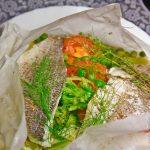 Филе рыбы, запеченное в пергаменте