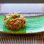Тартар из лосося в азиатском стиле