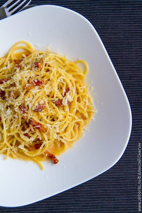 Спагетти карбонара - фото