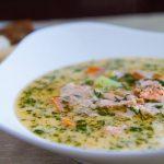 Финский суп из лосося со сливками