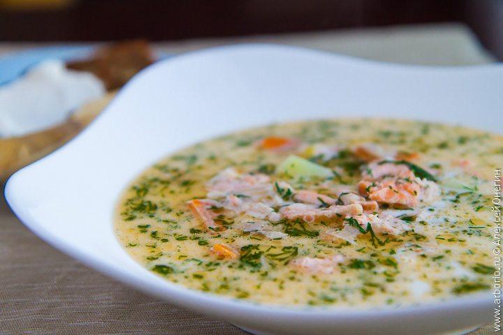 Финский суп из лосося со сливками - фото
