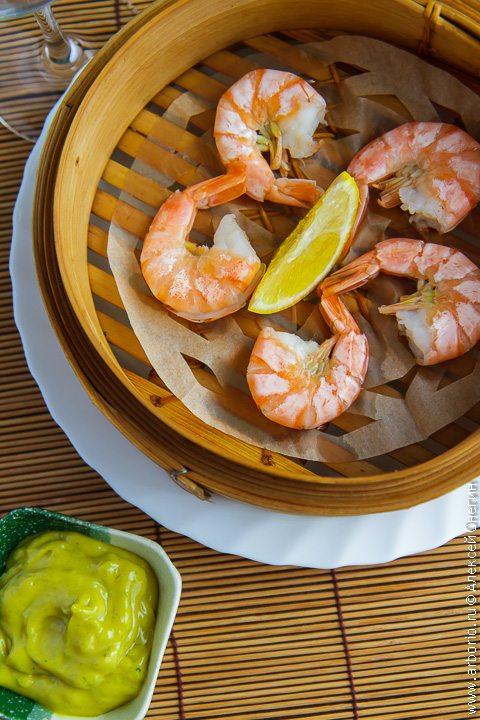 Вкусные креветки: на пару - фото