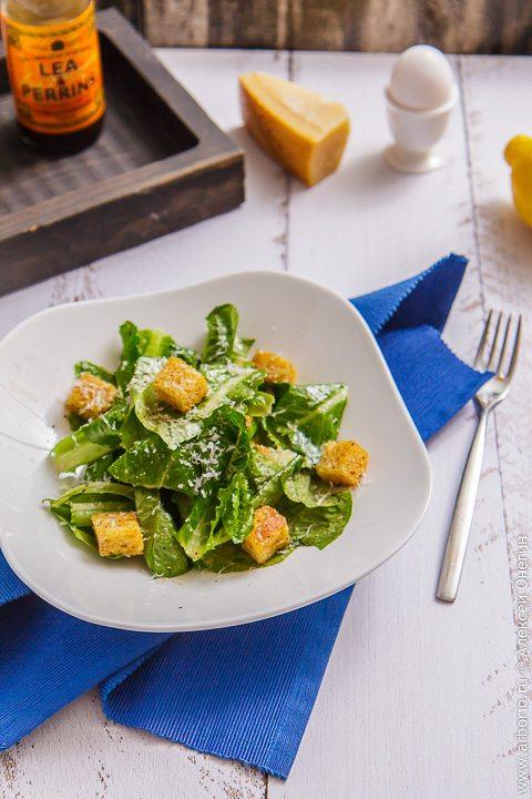 """Классический салат """"Цезарь"""" - фото"""