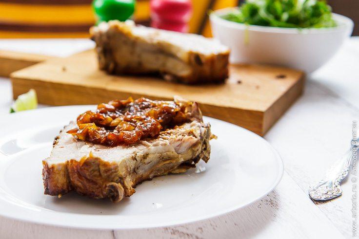 Свиная корейка в духовке - фото