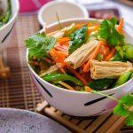 Китайский салат из соевой спаржи