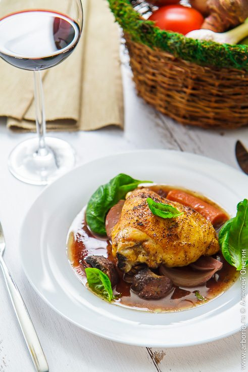 Курица с овощами - фото