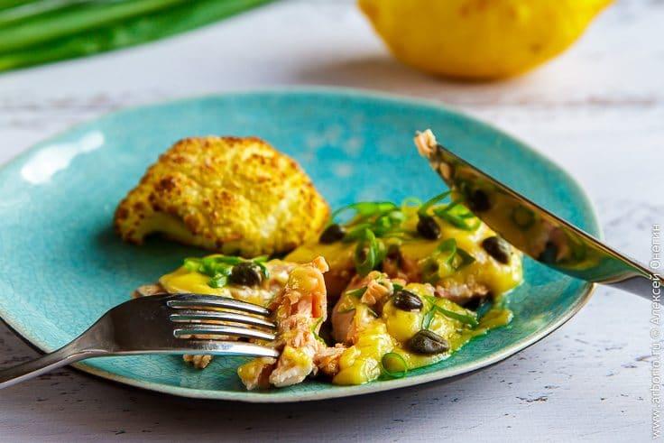 Рыба с лимонным соусом - фото