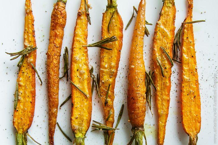 Запеченная морковь - фото