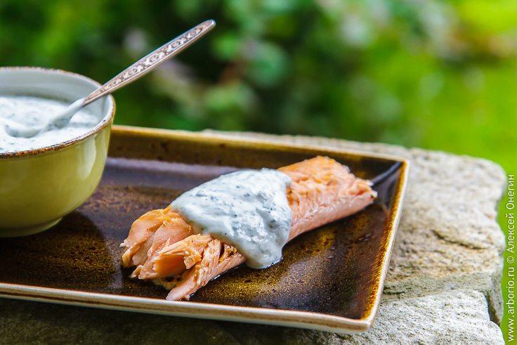 Соус из йогурта к рыбе - фото