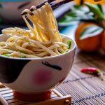 Лапша в кунжутном соусе