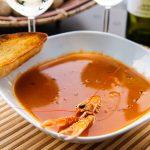 Томатный суп из лангустинов или креветок