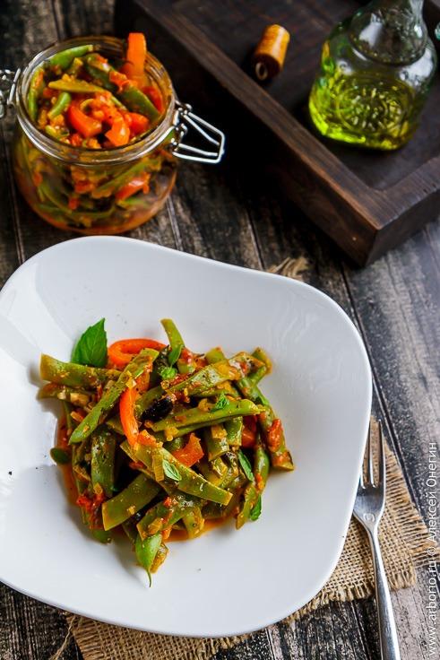 Рецепт стручковой фасоли в томатном соусе