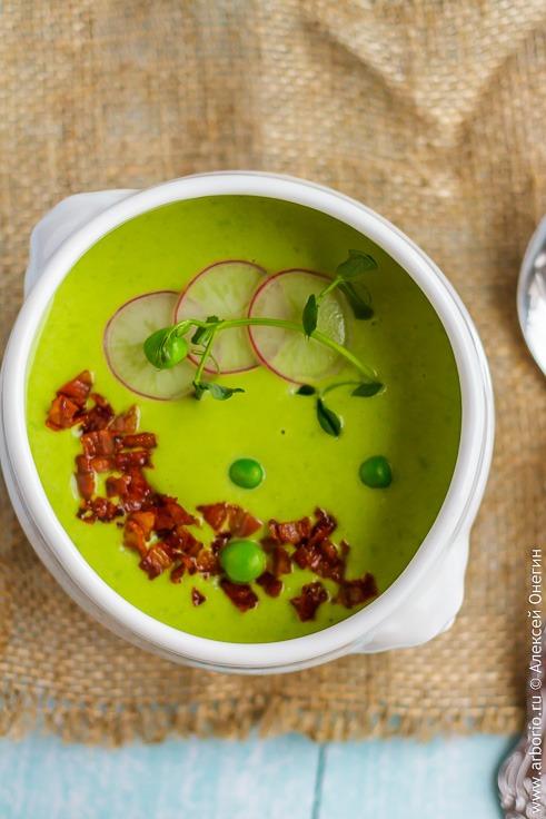 Рецепт крем-супа из замороженного горошка