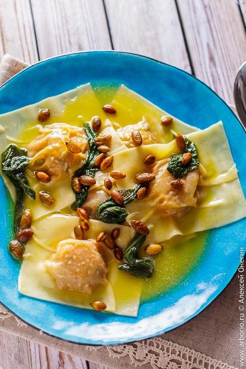 Рецепт равиоли с тыквой