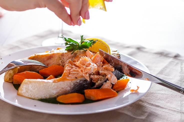 Рецепт стейка из семги в духовке с фото