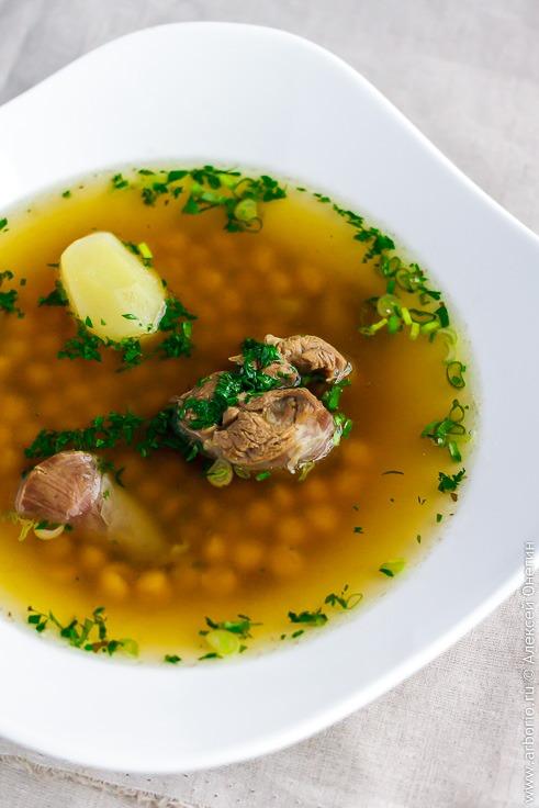 Суп из баранины с нутом - фото