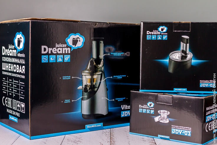 Шнековая соковыжималка RawMid Dream Vitamin JDV-03 - фото