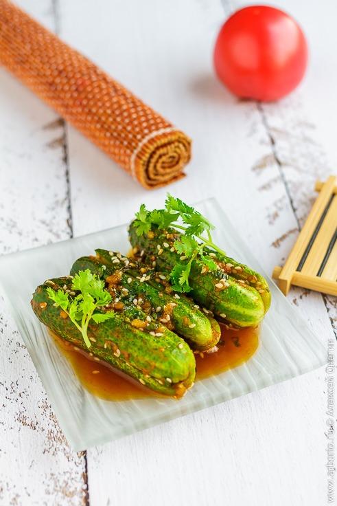Рецепт огурцов по-корейски с фото