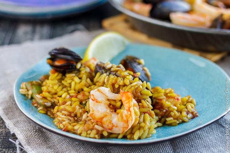 Паэлья с морепродуктами - фото