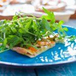 Эльзасская пицца с лососем