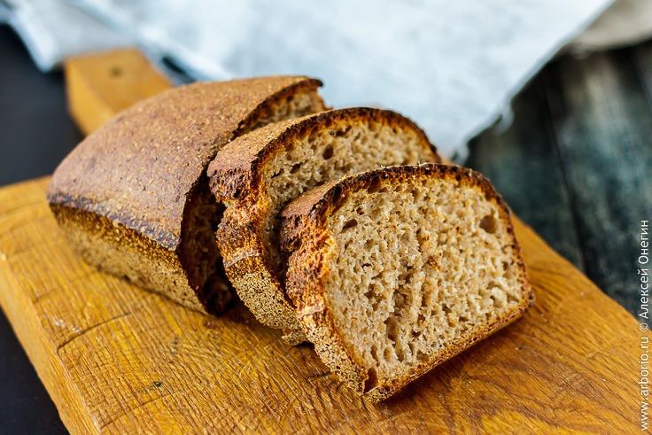 Черный хлеб с цельнозерновой мукой рецепт приготовления