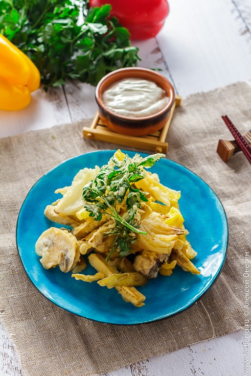 Овощи в кляре рецепт с фото