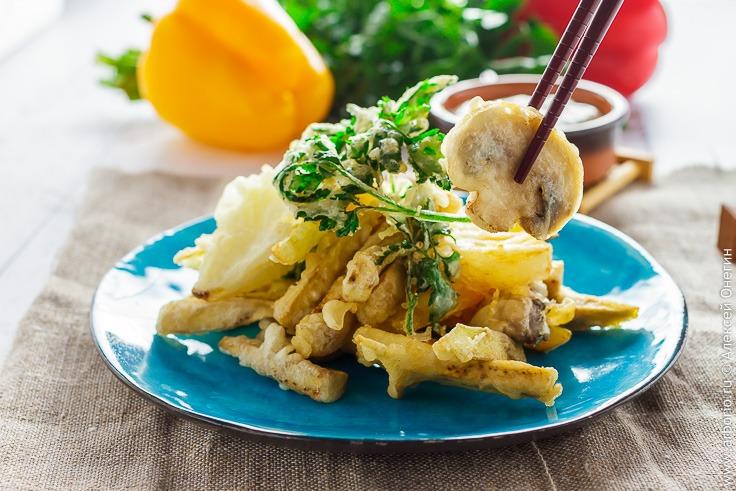 Рецепт приготовления овощей в кляре