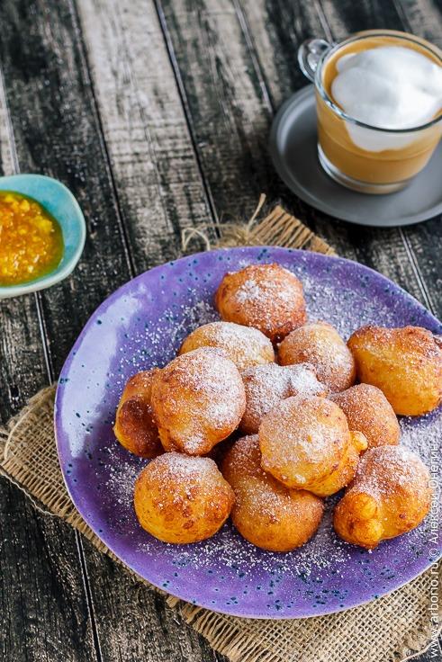 Творожные пончики жареные рецепт с фото