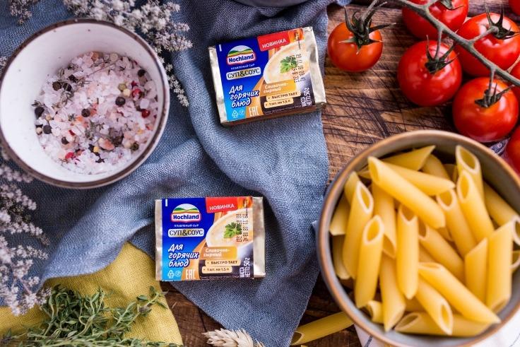 Паста с курицей в сливочно-сырном соусе рецепт приготовления