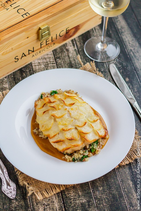 Рыба с картошкой в духовке рецепт с фото