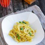 Спагетти с лимоном