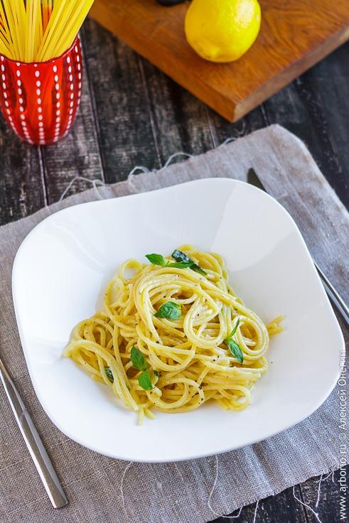Спагетти с лимоном рецепт с фото