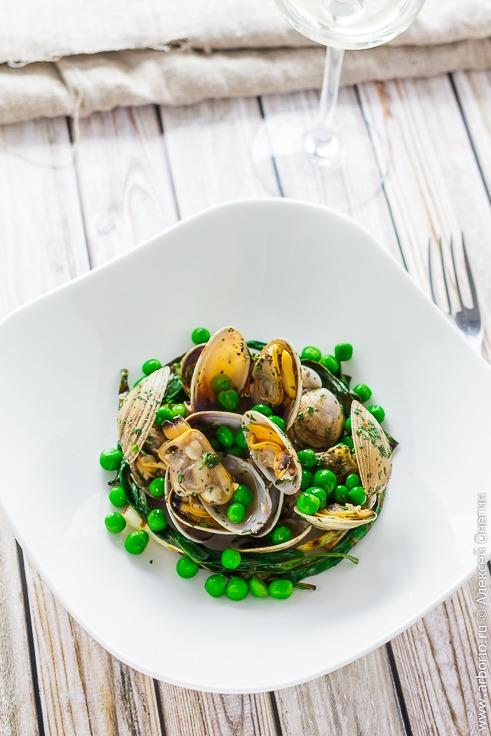 Вкусные ракушки с зелёным горошком рецепт с фото