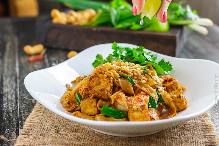 Лапша Пад Тай с креветками - фото